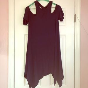 TOBI Navy cold shoulder swing dress